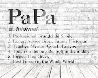 Definition of PaPa, SVG, PNG, DXF, Vinyl Design, Circut, Cameo, Cut File, PaPa Decal, PaPa shirt, Fathers Day svg, Grandparent Vector, PaPa