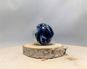 Glass Marble, Boro Marble, Glass Orb, Art Marble, Fumed Marble, Collectible Marble, Handmade Glass Space Planet, Vortex Marble, Meditation