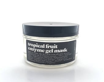 Papaya Mask - Tropical Fruit Enzyme - Gel Masque - Vegan Skincare - Gentle Exfoliating - Organic Papaya Extract - Organic Pineapple Extract