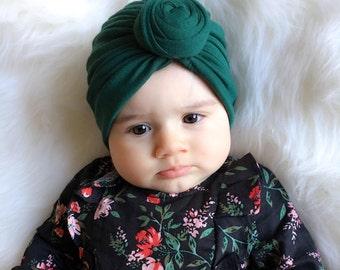 Emerald Top Knot Turban