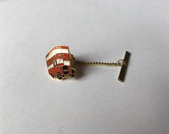 London bus tie pin