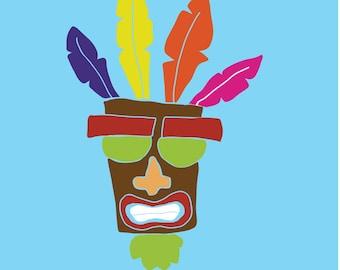 Crash Bandicoot Aku Aku Mask Decal