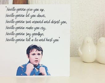 Neville Gonna Give You Up Valentines Card, Harry Potter Valentines Card,  Birthday Card