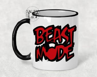 crossfit beast mode mug, fitness mug, crossfit mug, beast mode mug, beast mode coffee mug, crossfit coffee mug, crossfit lover, crossfit