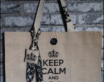 "Shopping bag ""Keep calm year be a shopping queen"""