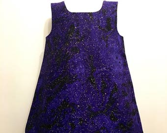 Girls Science Dress, Girls Purple Dress, Galaxy Dress, Space Dress, Boutique Dress, Party Dress, Sleeveless Dress, Back to school dress