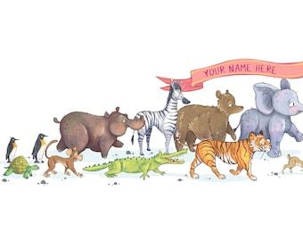 Personalised Animal Parade