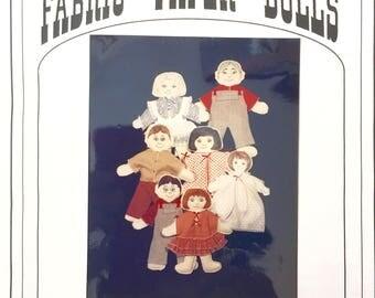 Paper Doll Patterns Fabric pattern sewing patternso sewing children's toys children's paper doll set