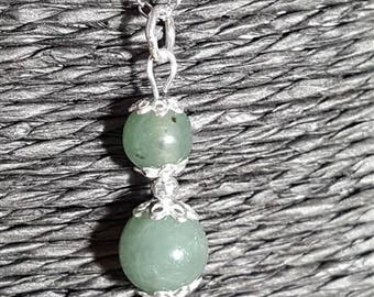 Liza - Jade and 925 Sterling Silver Pendant