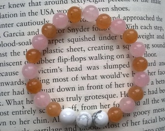 Howlite, Aventurine & Rose Quartz Beaded Bracelet