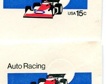Auto Racing Embossed Envelopes /Unused /Indy 500 Car