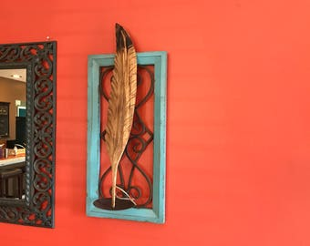 Wooden Carved Feather