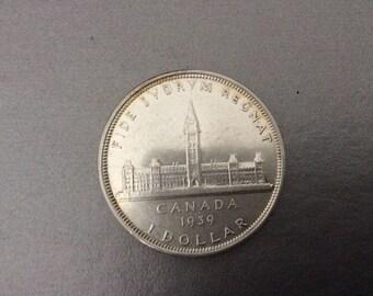 Canadian 1939 Silver Dollar / Canada