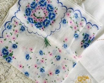 Vintage Handkerchiefs, Hand-tatted Handkerchiefs, Antique Handkerchiefs