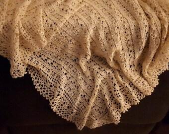 Heirloom Unique Crochet Royal Rayon Shawl