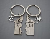 New home Keyring New home gift New home housewarming gift Home sweet home new house