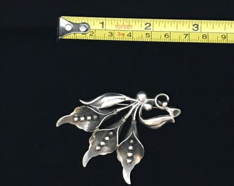 Sterling Silver Calla Lilly Pin