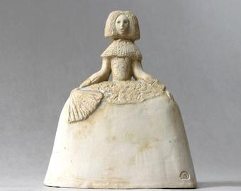 Menina , Ceramic Sculpture , Fine Art Ceramic , Art Object , Handmade Clay Sculpture , Ceramic Art , Ceramic Figurine , Pottery , Décor