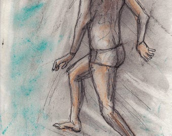 SKETCH - Study of current child - pastel