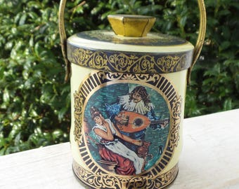 Vintage English Tin with Courting Couple