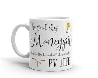 Moneypit I Love RV Mug. Perfect camping homeware RV accessories