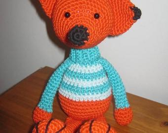 Handmade, Crochet Toy, Soft Toy, Stuffed Animal, Amigurumi Fox - Felix