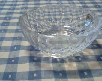 vintage 1960s Crystal Bowl Val St Lambert Belgium Depose Balmoral