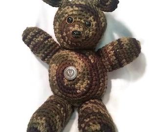 Cammo Crochet Bear Plushie