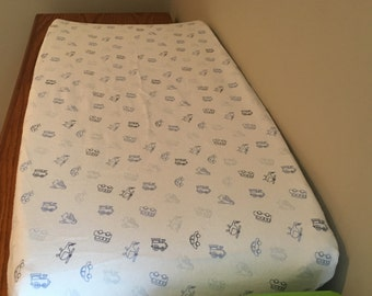 Transportation, Changing Pad Cover, Bassinet Sheet, Boy Changing Pad Cover, Gift, Baby Shower, Bus, Plane, Car, Baby Branch Boutique