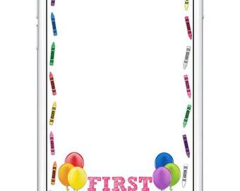 Crayon Birthday Snapchat Filter