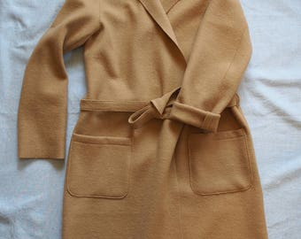 Beige jacket in boiled wool, size M