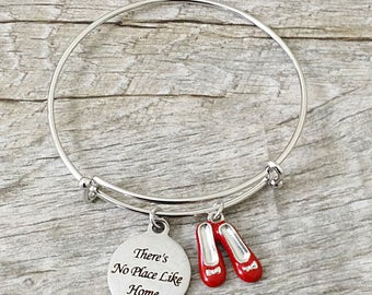 There's No Place Like Home The Wizard Of Oz Inspired Charm Bangle Bracelet