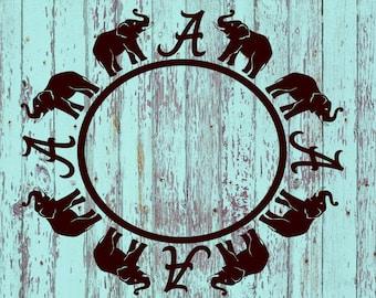 University of Alabama Monogram Decal  #2/UofA/Crimson Tide/Roll Tide/Monogram/Monograms/Tumblers/Tumbler Decals/Yeti