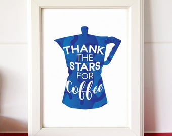 Coffee Lover Printable Coffee Art for Kitchen Printable Quote for Kitchen Wall Art Cafe Decor Funny Printable Instant Download