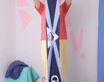 blue sport scarf, team club football swimming scarf, slogan letters scarf muffler
