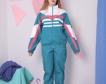 adidas tracksuit set size 36/38, vintage 90s adidas jacket pants, gym suit, sweatpants, vintage sportswear