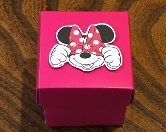 Minnie Party Favor Boxes - Disney Themed Pink Boxes