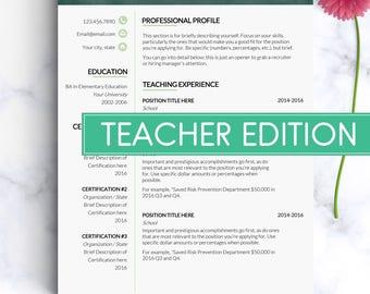 Teacher resume template Professional resume for teachers Elementary resume teacher Principal Educator resume Teaching resume Cv template GF