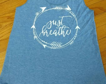 Just Breathe tank