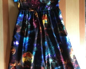 Girls Size 6 Solar Eclipse Dresses Summer Dress 6 Short Sleeve Dress Girls Dresses For Girls Solar Eclipse Girls Clothing Back to School