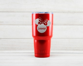 Yeti Tumblers Engraved With Minnie Mouse Personalized Yeti Tumblers 20 oz Minnie Mouse Yeti Gift For Men Minnie Mouse Yeti Rambler 30 oz