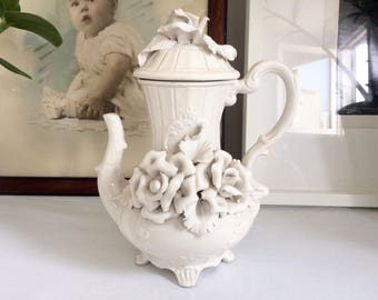Coffee pot white vintage Bassano 1960