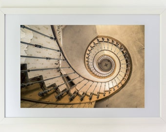 Fine art photography from a staircase in an abandoned Villa in Europe