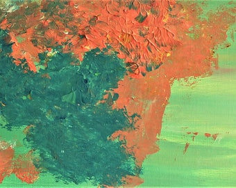 ORIGINAL---Vibrant Tribe---Abstract Acrylic Painting on Paper