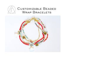 Personalized Beaded Charm Bracelet Δ Thin Gold Chain bracelet Δ Personalized Jewelry Δ Turquoise BraceletΔFriendship Bracelets ΔGift for Her