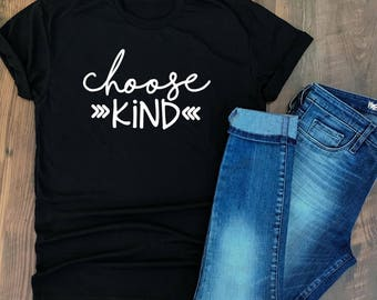 Choose Kind Shirt - Kindness is Cool Shirt - Positive Message Tshirt - Kindness Quotes - Wonder tshirt - Trending T-shirts - Mixed Font type