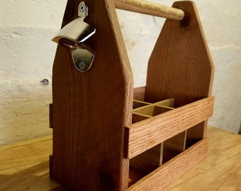 Handmade Beer Caddy and Bottle Opener