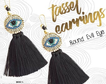 Tassel Earrings Evil eye