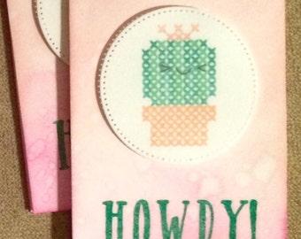 Mini Notes:  Howdy! Cactus