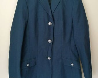 Vintage Burton single breasted navy blue suit jacket size M